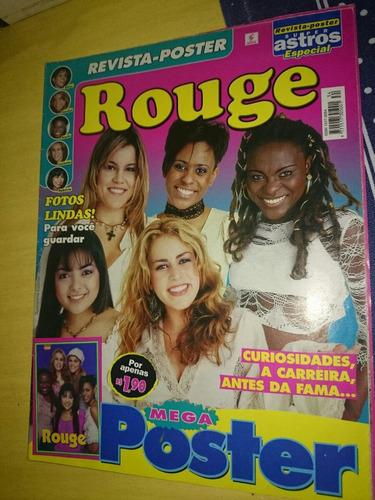 Mega Revista Pôster Do Grupo Rouge Item Raro De Colecionador Original