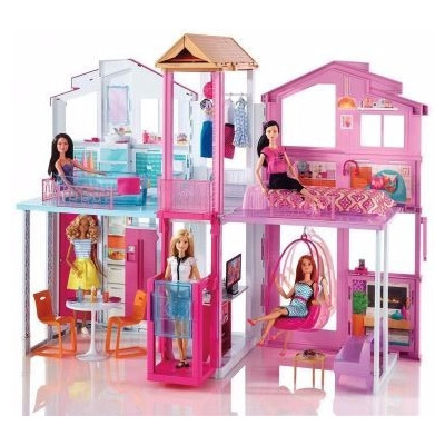 Mattel real super casa 3 andares barbie dly32 r - Supercasa de barbie ...