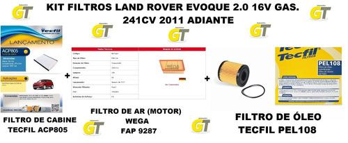 Kit Filtros Land Rover Evoque 2.2 Sd4 Dies190cv 2015 Adiante Original