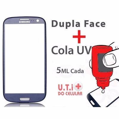 Tela Vidro Samsung Galaxy I9300l S3 Neo + 3m + Cola Uv 5ml