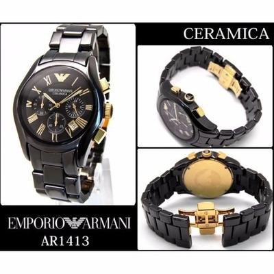 5a9361dbe5d Relogio Armani Emporio Ar1413 Preto + Frete