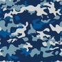 Papel De Parede Camuflado Azul 0, 58 X 3, 00m