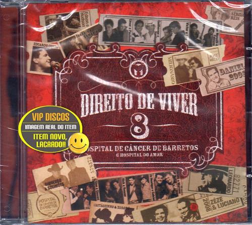 Cd Direito De Viver 8 Com Guilherme E Santiago Novo Lacrado Original