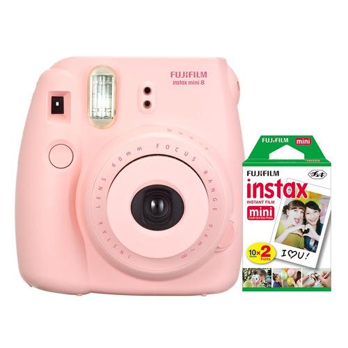 Câmera Instantânea Fujifilm Instax Mini 8 Rosa + 20 Fotos