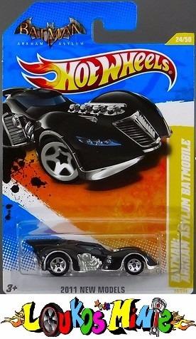 Hot Wheels Batman Arkham Asylum Batmobile #24 2011 Lacrado Original