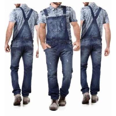 Jardineira macac o jeans masculino promo o r 159 00 em for Jardineira masculina c a