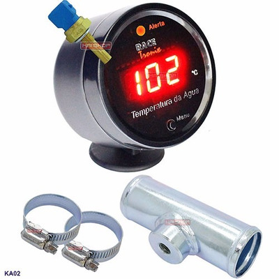 Kit medidor temperatura digital sensor gua radiador motor for Sensor temperatura agua