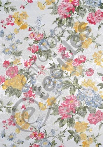 Tecido Jacquard Floral 12m X 2,8m Parede Sofa Toalha Cortina Original