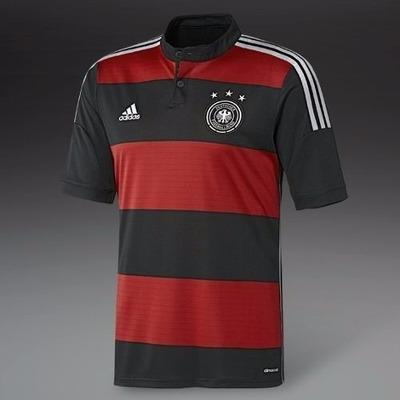 3231f18a617a8 Camisa Da Alemanha Seleção Alemã Listrada Rubro Negra Copa