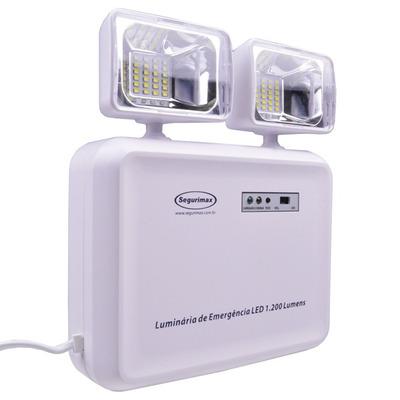 Encontre Luminária De Emergência Com 2 Faróis Led 1200 Lumens em danielEletro