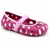 Sapatilha Infantil Crocs Keeley Minnie Flat Original Pixolé