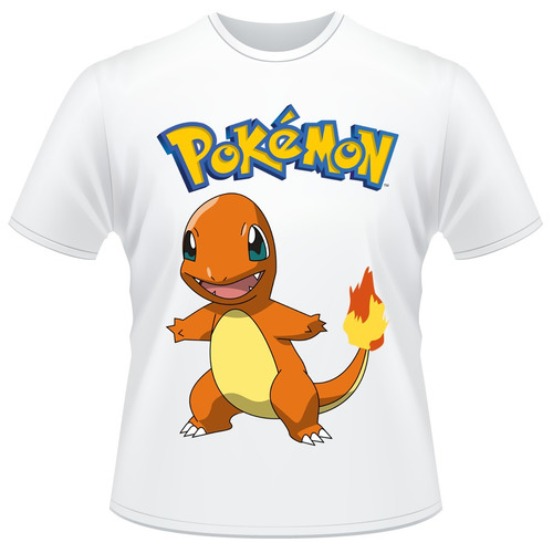 Camisa Infantil Pokemon - Charmander