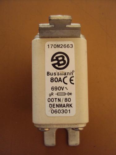 Fusível Bussmann 170m2663 80amp 690 Volts Semicondutores Original