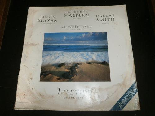 Lp Lifetide O Pulsar Da Vida, Steven Halpern, Vinil De 1987 Original