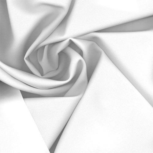 Tecido Gabardine 100% Poliéster Branco Largura 1,50m