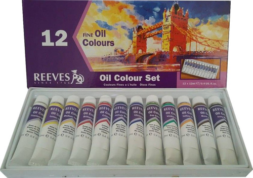 Kit 12 Cores Tinta À Óleo - Reeves