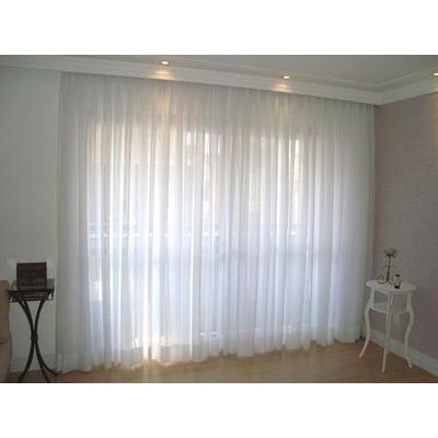 Cortina p trilho comum ou sui o voil voal liso 2 80x2 50metr r 120 00 em mercado livre - Tipos de cintas para cortinas ...
