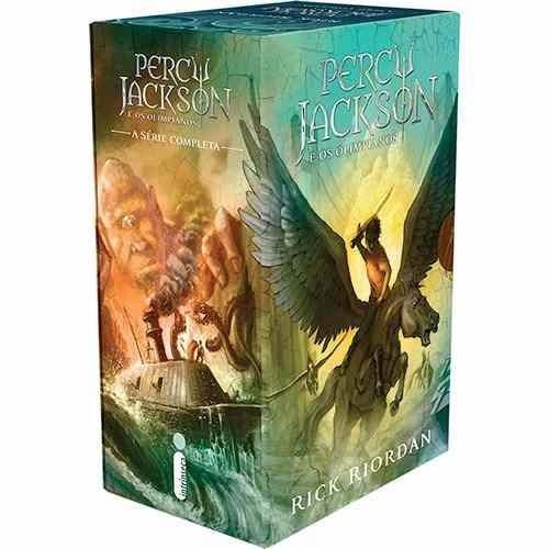 Box Coleção Percy Jackson E Os Olimpianos 5 Livros Volumes