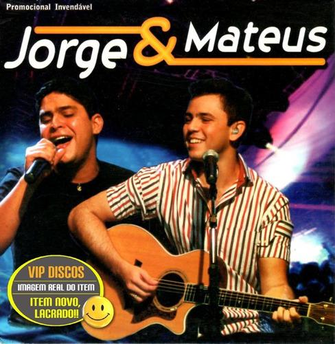 Jorge E Mateus Cd Promocional Capa Exclusiva - Novo Raro Original