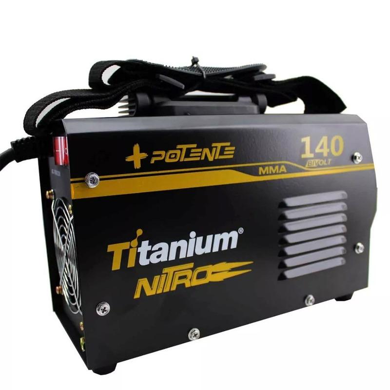 INVERSORA DE SOLDA 140AMP  TITANIUM BIVOLT 110/220V