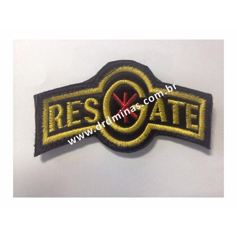 Patch / Distintivo Bordado Resgate - U