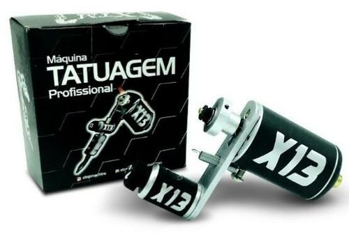Maquina X13 Rotativa + Cabo+ Brinde Surpresa Tattoo Tatuagem
