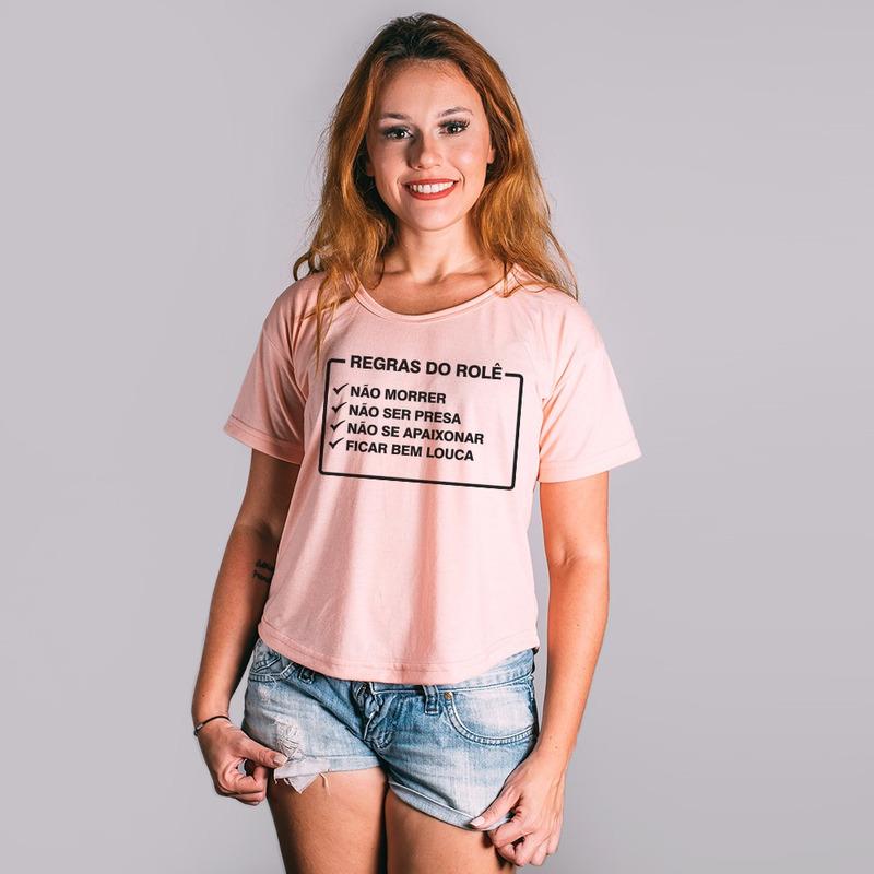 CROPPED ROSA - REGRAS DO ROLE