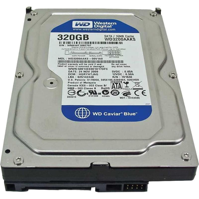 """HD WD 320GB SATA II 3.0GB/S 16MB CACHE 7.200RPM 3.5"""" WD3200AAKS"""