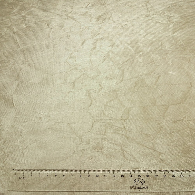 Tecido suede amassado bege Larg. 1,40 m