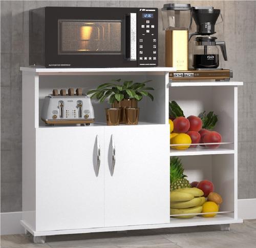 Fruteira Balcão 2 Portas Chão Cozinha Cor Branco Ou Preto Original