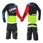 Conjunto Ims Flex Short E Camisa Amarelo Flúor Motocross