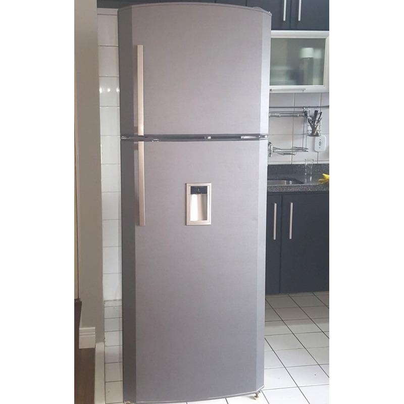 Adesivo para envelopamento geladeira escovado grafite Lar. 1,38 m