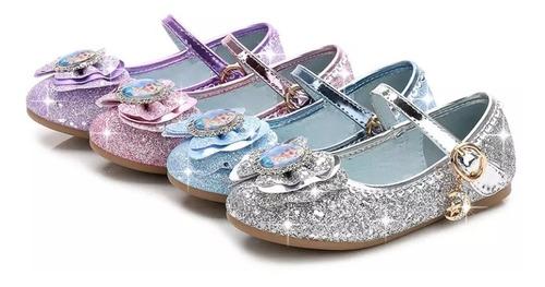 Fantasia Sapatilha Elsa Frozen  Princesas Infantil Calçado Original