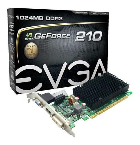 Placa Vídeo Evga Gt 210 Geforce 1gb Ddr3 Low Profile 64bit Original