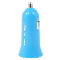 Carregador USB Automotivo Smartogo Multilaser - CB079 Azul