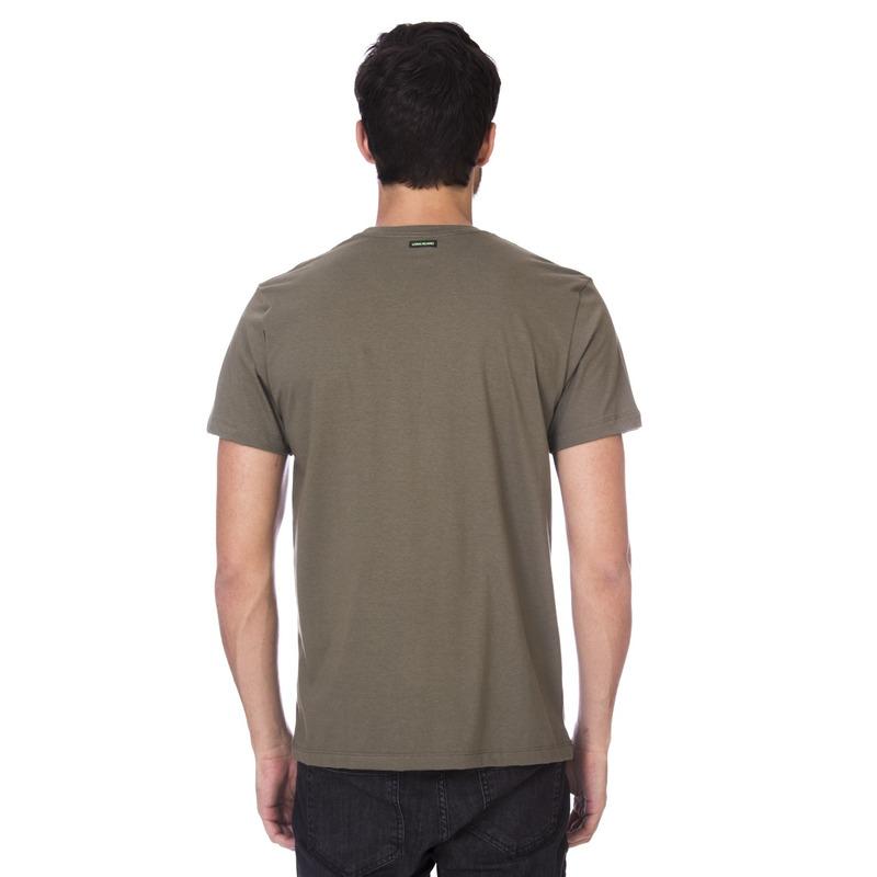 Camiseta Long Island Selos Verde Militar