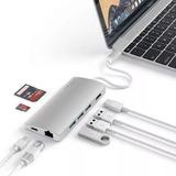 Satechi Usb-c Multiporta V2 Silver Mac Macbook Pro Air iPad  ST-TCMA2S