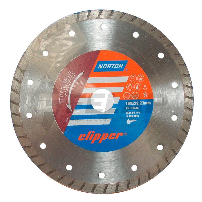 Disco Diamantado Clipper Norton Turbo 180 x 8 x 22,23 mm