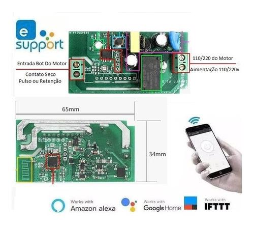 Rele Sonoff Pulso Wifi Via Celular Portão Automático Bivolt Original