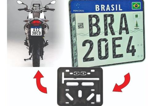 Suporte Para Placa De Moto Modelo Mercosul - Retangular Original