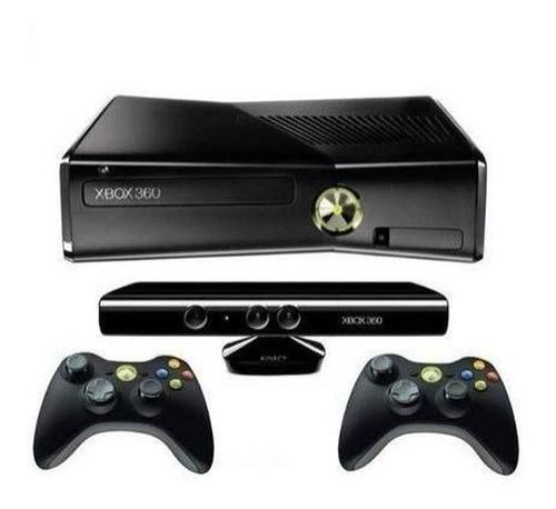 Xbox 360 4gb + Kinect + 2 Controles + 17 Jogos Originais Original