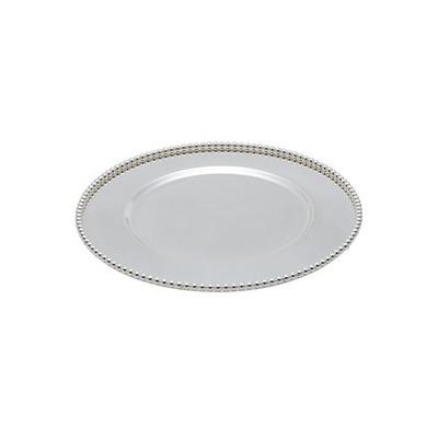 Sousplat De Zamac Balls Silver Plated 32X32X1,7Cm 4103774
