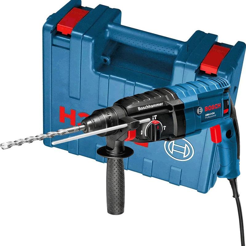 Martelete Rotativo e Perfuração 820W + Maleta - GBH 2-24 D - Bosch - 110 Volts