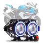 Farol De Milha Aux Led Olho De Anjo Par 30w Angels Eyes Moto C Botão 12v Xre Cg Broz