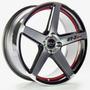 Roda Gt7 C spec 2 / Aro 15x6 / Preta Red Diamantada (4x100)