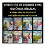 50 Revistas Livrinhos Colorir Infantil Bíblico Revistinhas