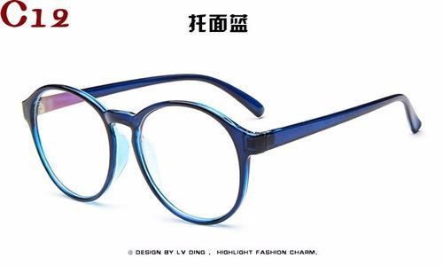 1b283fd7c comprar Armação Óculos De Grau Acetato Redondo Masculino Feminino Bu ...