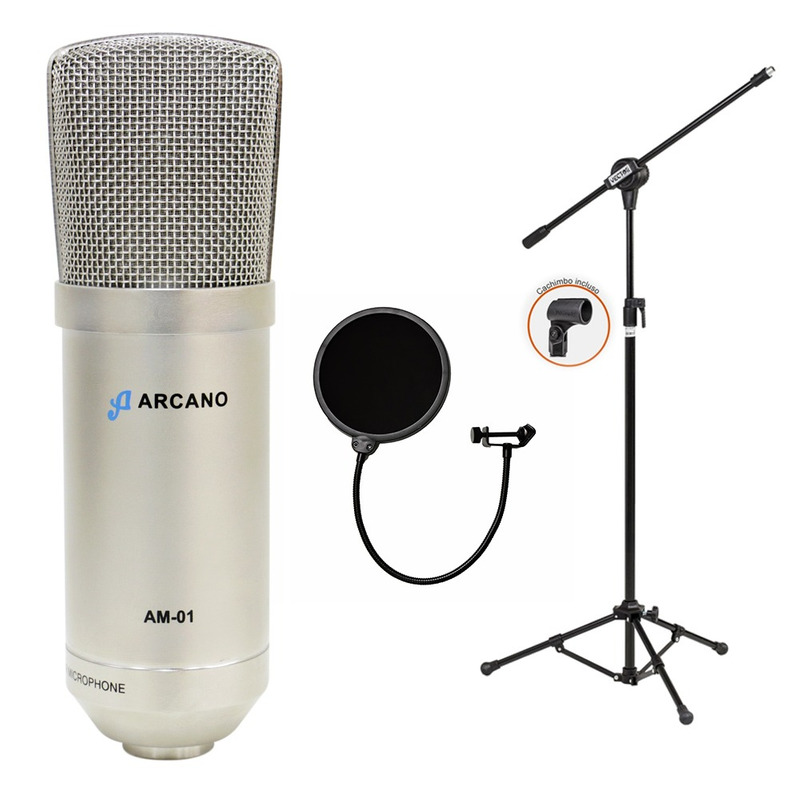 01 Mic Arcano Am-01 + 01 Ar001 + 01 Pop Filter Amf1