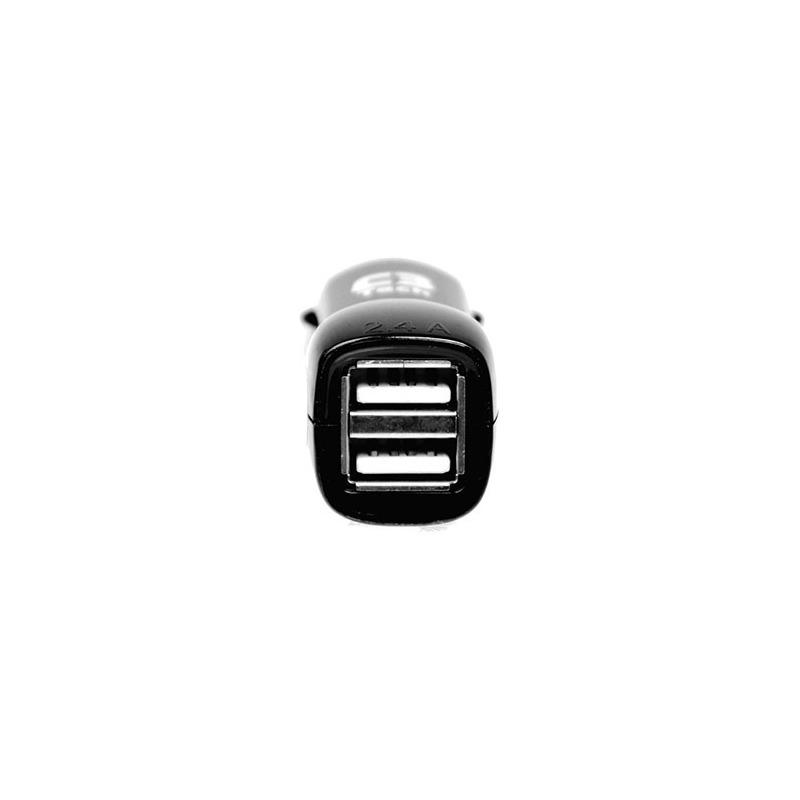 CARREG VEICULAR C/2 USB 2.4A UC-24 BK C3T