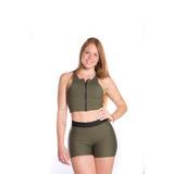 Shorts Cós Elastico Verde Militar
